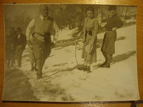 mussolini family ski holiday 1934?