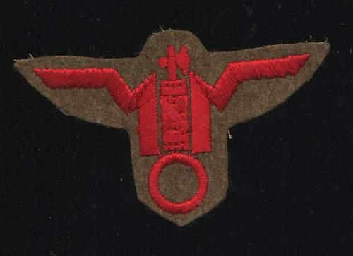 RSI italian GNR hat front badge 1944/45
