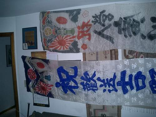 Japanese silk banners...