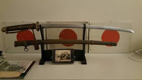 WWII Japanese Samurai Sword SHIN GUNTO (1943 by Seki Showa Swordsmith Kiyomiya )