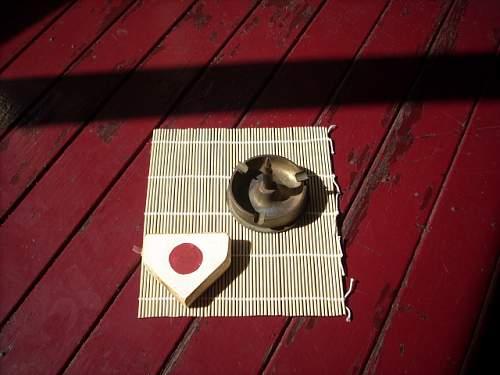 Japanese trench art ashtray