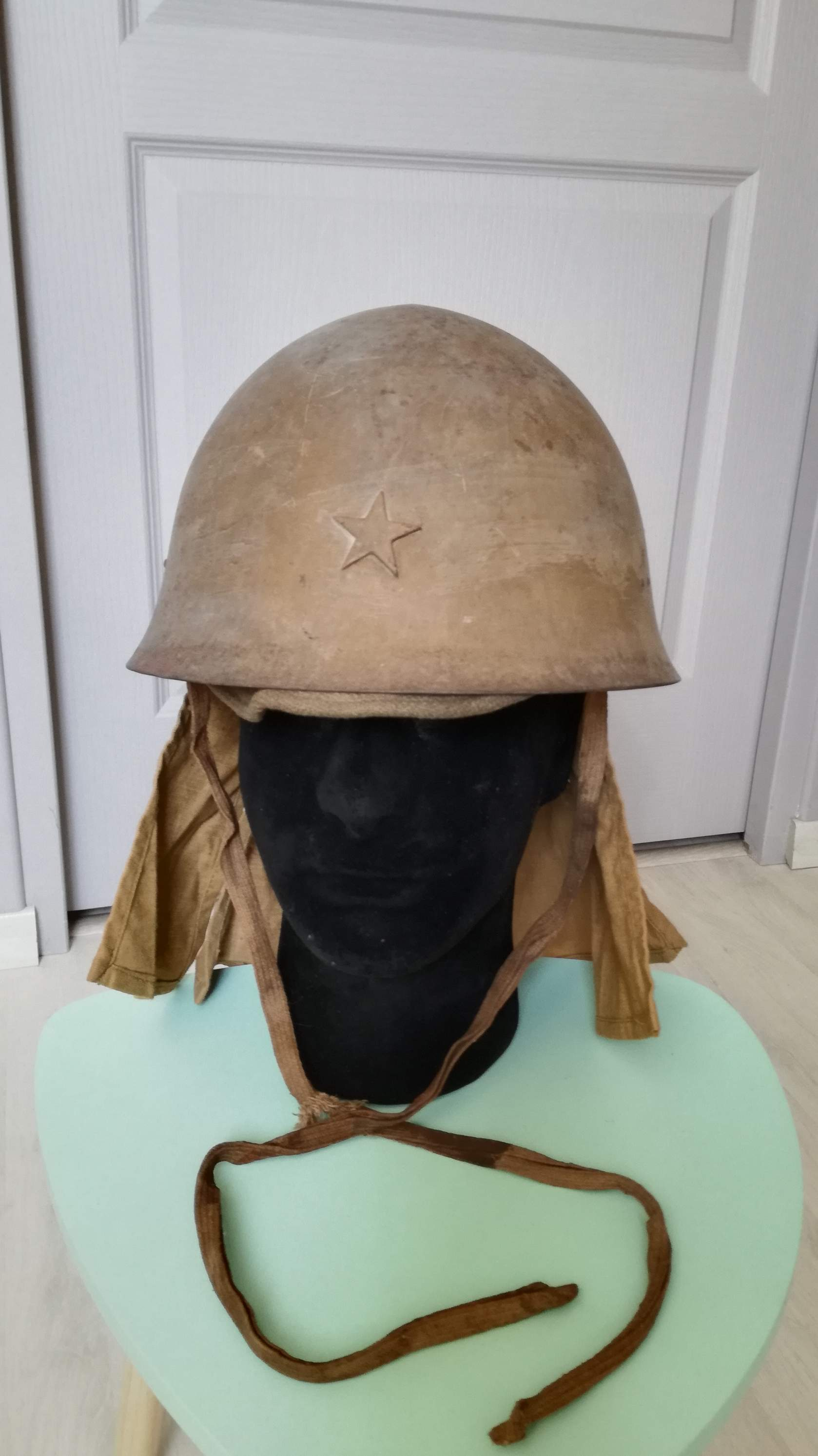 Question Any thoughts on this Type 90 Japanese Army Helmet?