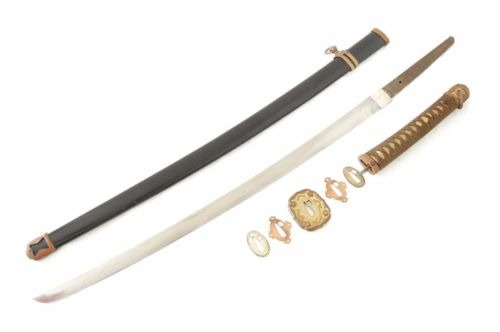 WWII Japanese Samurai Sword Officer SHIN GUNTO World War 2