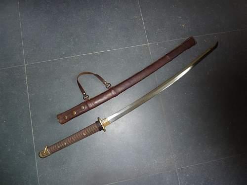 Japaneese officer samurai sword - opinions please