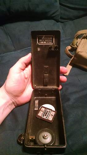 WWII Japanese Find (Flashlight, Rifle Cleaning Kit, and Papers)