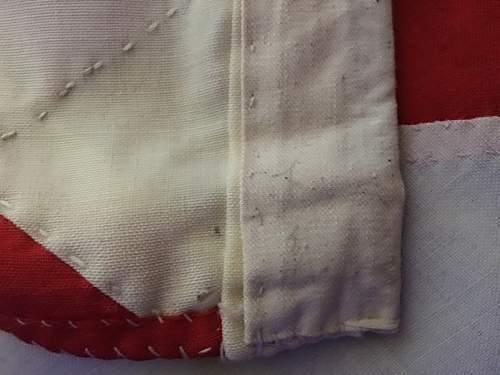 Large IJN Stitched Cotton Asahi - Rising Sun Flag