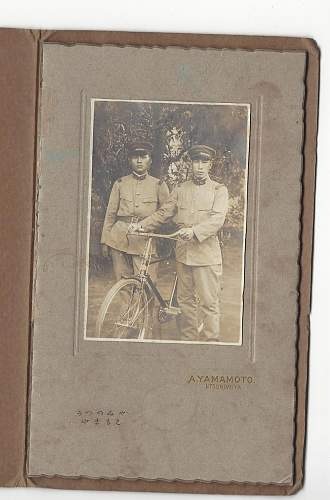 Soldiers with bicycle