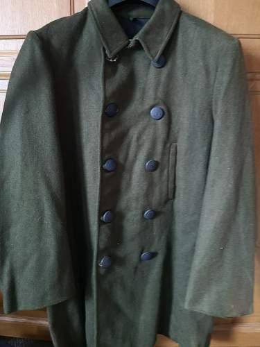 Green navy jacket