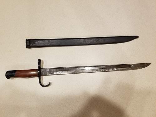 WW II Japanese Bayonet wood grip