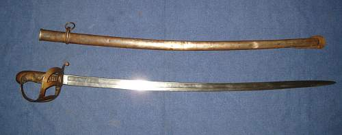 Why did the army revive the Samurai sword design in 1934 for officers?