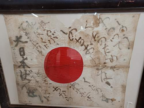 Is this a legit WWII Japanese personal Good Luck Flag?