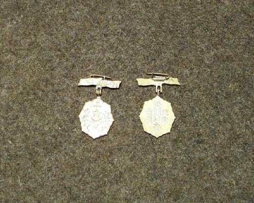 Japanese Womens Association medals