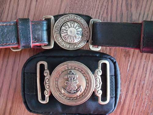 Japanese IJA belt and buckle belonging to Lt. Col Iwanami