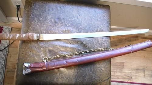 Grandpa's sword from WWII any info / thoughts ?