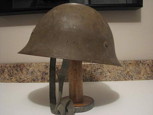 Japanese ww2 helmet with writing