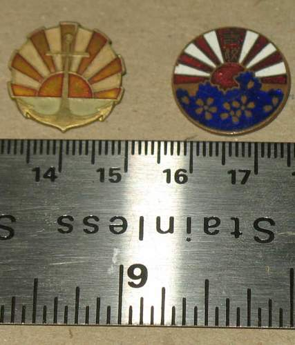 Help id'ing 2 Japanese? WWII Pins