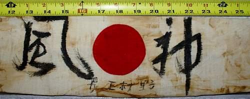 WWII Japanese Headband...Real or fake??