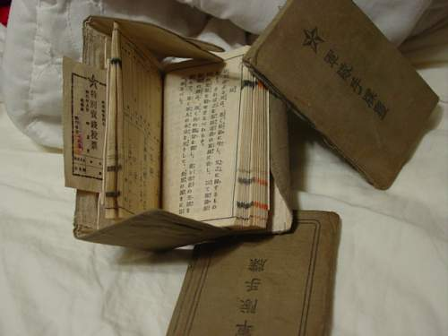 WW2 IJN Japanese Personal Effects Bag & Contents