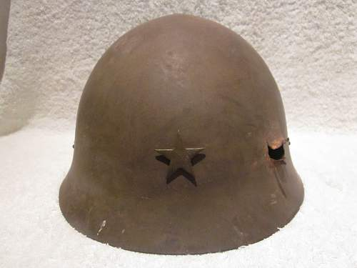 Two Japanese Type 90 Helmets