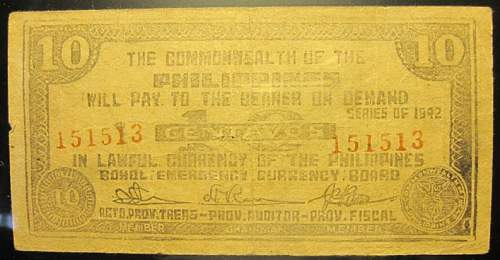 Click image for larger version.  Name:S131D Bohol 10 centavos 1942.jpg Views:71 Size:177.9 KB ID:350399
