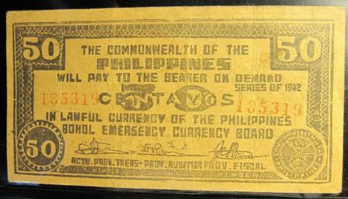 Click image for larger version.  Name:S134 Bohol 50 centavos 1942.jpg Views:102 Size:227.5 KB ID:350401