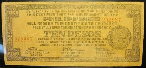 Click image for larger version.  Name:S137J Bohol 10 pesos 1942.jpg Views:158 Size:175.7 KB ID:350405