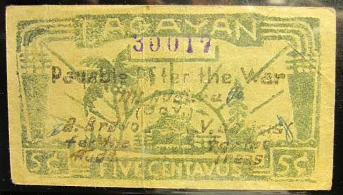 Click image for larger version.  Name:S178A Cagayan 5 centavos 1942.jpg Views:197 Size:215.2 KB ID:350407