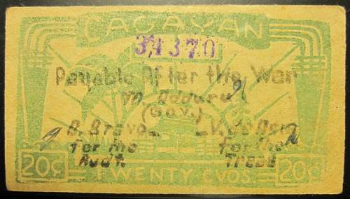 Click image for larger version.  Name:S183A Cagayan 20 centavos 1942.jpg Views:110 Size:197.8 KB ID:350409