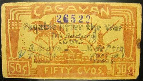 Click image for larger version.  Name:S185A Cagayan 50 centavos 1942.jpg Views:181 Size:212.0 KB ID:350410