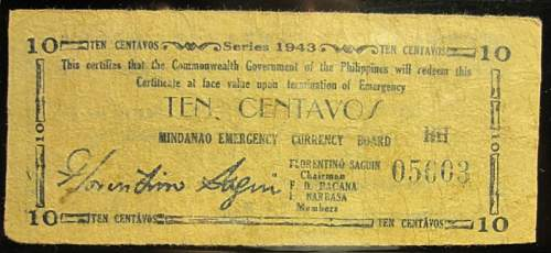 Click image for larger version.  Name:S492 Mindanao 10 centavos 1943.jpg Views:104 Size:164.1 KB ID:350509