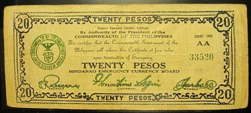 World War II  Banknotes used in the Philippines