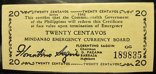 Click image for larger version.  Name:S503 Mindanao 20 centavos 1943.jpg Views:148 Size:178.3 KB ID:350515
