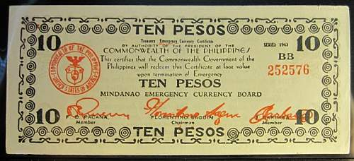 Click image for larger version.  Name:S508A Mindanao 10 pesos 1943.jpg Views:116 Size:177.7 KB ID:350519
