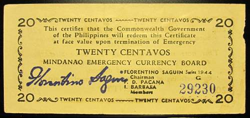 Click image for larger version.  Name:S513 Mindanao 20 centavos 1944.jpg Views:181 Size:157.5 KB ID:350520
