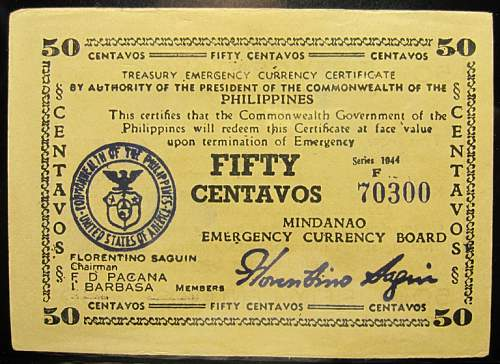 Click image for larger version.  Name:S514A Mindanao 50 centavos 1944.jpg Views:104 Size:66.3 KB ID:350521