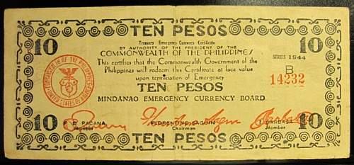 Click image for larger version.  Name:S518B Mindanao 10 pesos 1944.jpg Views:191 Size:188.5 KB ID:350529