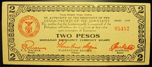 Click image for larger version.  Name:S524A Mindanao 2 pesos 1944.jpg Views:203 Size:180.7 KB ID:350533