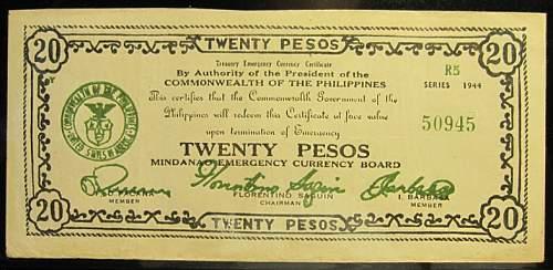 Click image for larger version.  Name:S528c Mindanao 20 pesos 1944.jpg Views:175 Size:189.4 KB ID:350575