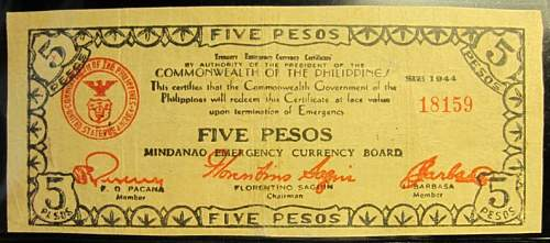 Click image for larger version.  Name:S526A Mindanao 5 pesos 1944.jpg Views:155 Size:170.7 KB ID:350600
