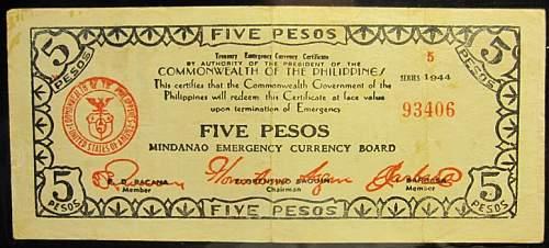Click image for larger version.  Name:S526b Mindanao 5 pesos 1944.jpg Views:267 Size:178.1 KB ID:350601