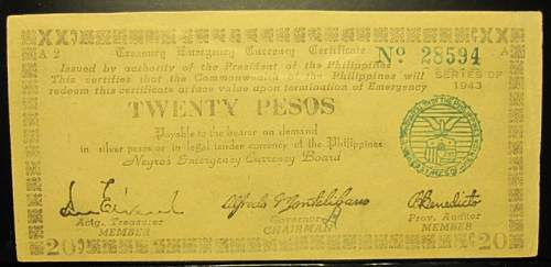 Click image for larger version.  Name:S664 Negros 20 pesos 1943.jpg Views:145 Size:141.6 KB ID:350621