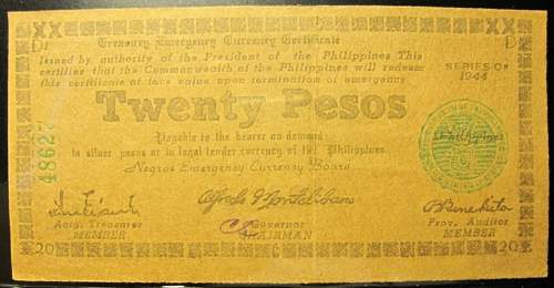 Click image for larger version.  Name:S680 Negros 20 pesos 1944.jpg Views:121 Size:171.6 KB ID:350630