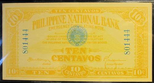 Click image for larger version.  Name:39 Philippines Emergency notes 10 centavos 1917.jpg Views:124 Size:153.2 KB ID:350633