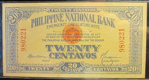 Click image for larger version.  Name:40 Philippines Emergency note 20 centavos 1917.jpg Views:197 Size:215.0 KB ID:350634