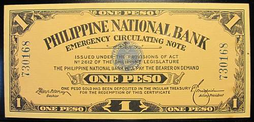 Click image for larger version.  Name:42 Philippines Emergency note 1 peso 1917.jpg Views:348 Size:205.6 KB ID:350636