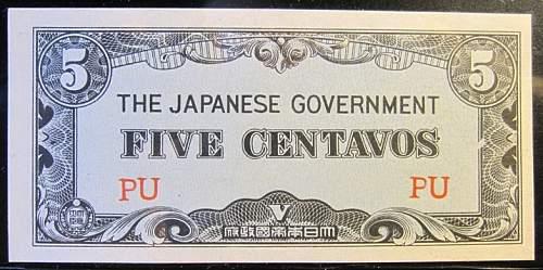 Click image for larger version.  Name:103A Japan 5 centavos 1942.jpg Views:87 Size:205.0 KB ID:350644