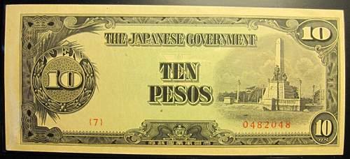 Click image for larger version.  Name:111 Japan 10 pesos 1943.jpg Views:122 Size:182.8 KB ID:350658
