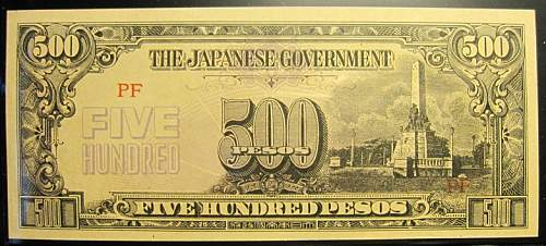 Click image for larger version.  Name:114A Japan 500 pesos 1944.jpg Views:264 Size:203.4 KB ID:350660