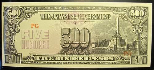 Click image for larger version.  Name:114B Japan 500 pesos 1944.jpg Views:403 Size:197.4 KB ID:350661