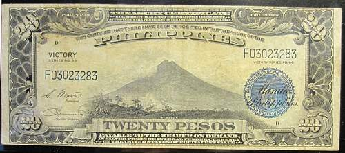 Click image for larger version.  Name:98A Philippines 20 pesos 1944 Victory.jpg Views:366 Size:209.0 KB ID:350790